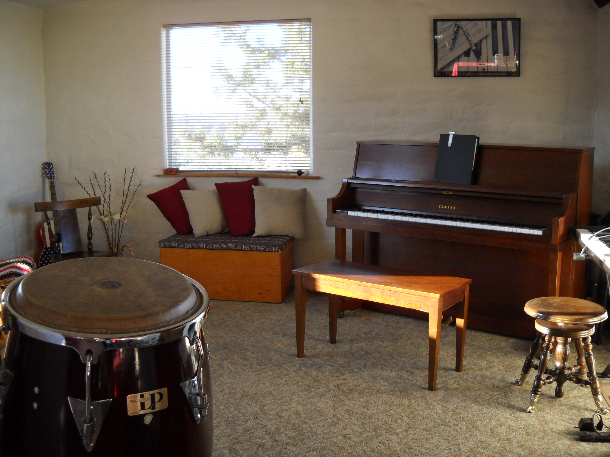 A delightful place to make music. Inside the adobe abode 2011-2014